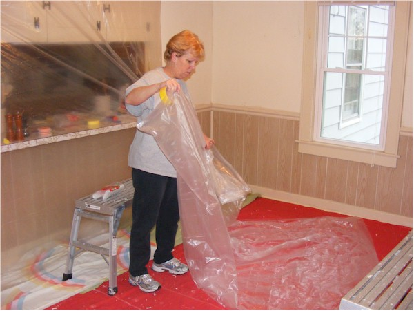 drop cloths masking painting